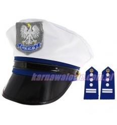 Czapka Policjanta + Pagony