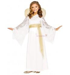 Strój Aniołek Biało-Złoty
